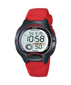 CASIO Kinderuhr Uhr Fun Timer LW-200-4AVEG in rot,Mädchenuhr,Jungenuhr NEU