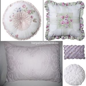 Simply Shabby Chic Pillows : SIMPLY SHABBY CHIC DECORATIVE TOSS PILLOW BRAMBLE LILAC EYELET PINTUCK PINWHEEL eBay