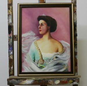Portrait-of-a-Girl-Real-Handmade-Frame-Oil-Painting-Picture-Pictures-G96299