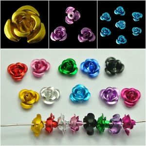 100pcs-Fashion-Rose-Flower-Aluminum-Spacer-Beads-6mm-For-Jewelry-Making
