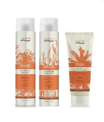 Natural Look Oasis Moisturising Shampoo, Conditioner 375ml & Cream 200ml