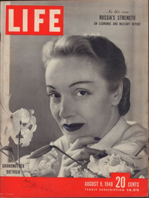 LIFE August 9,1948 Grandmother Dietrich / Russia's Strength / New Drug Methadon