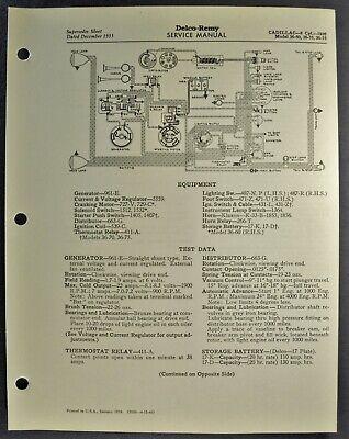 1936 Cadillac V8 Wiring Diagram Sheet 60 70 75 Excellent ...