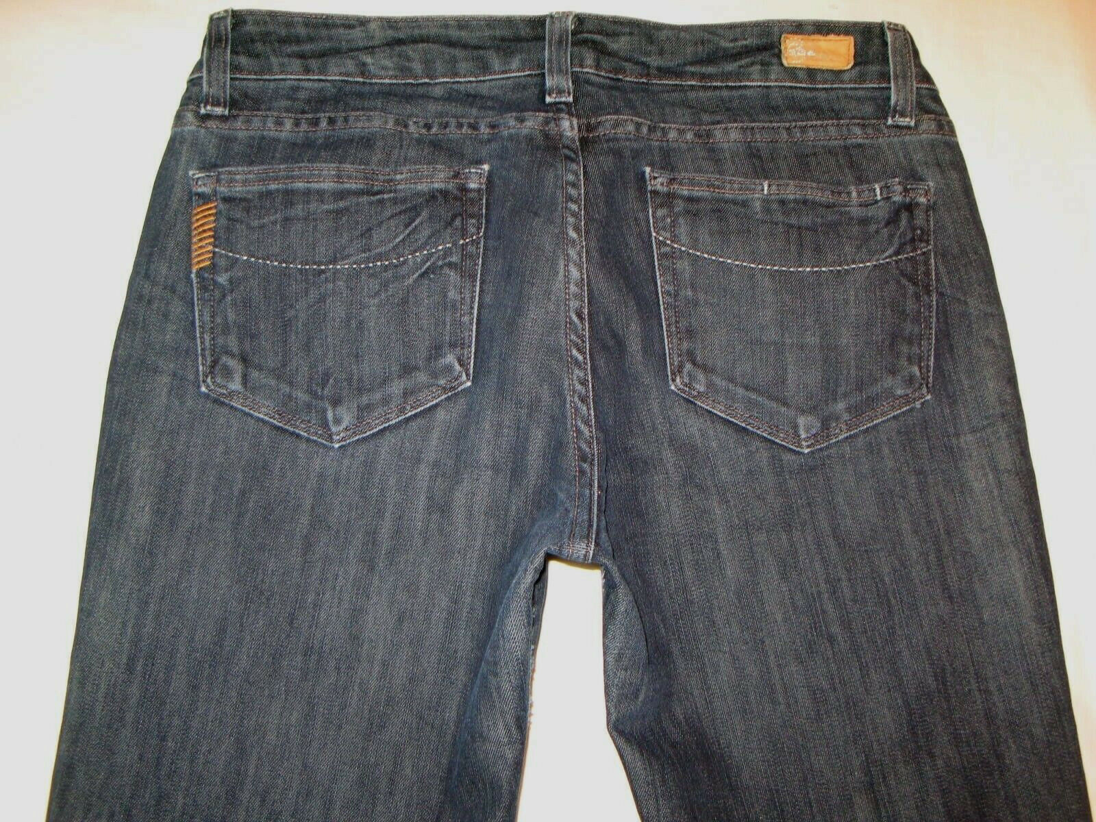 Paige Benedict Canyon Bootcut Jeans Sz 29 Dark Distressed w Stretch L 32.25