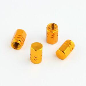 Lot-de-4-bouchons-de-valve-en-aluminium-v2-couleur-jaune-or-Auto-Moto-Velo