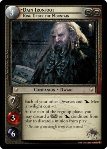 LOTR TCG Dain Ironfoot King Under The Mountain 14R1 Expanded Middle-earth MINT