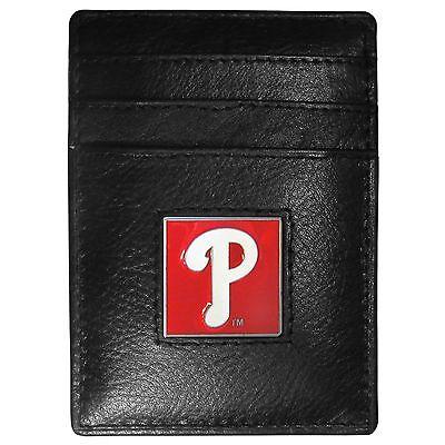 Fanartikel GüNstiger Verkauf Philadelphia Phillies Mlb Feine Vollleder Kartenhalter Geldklammer Portemonnaie Offensichtlicher Effekt Weitere Ballsportarten