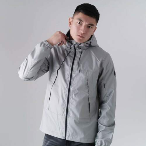 Born Rich Agustin Men/'s Everyday Casual Waterproof Hooded Autumn Raincoat Jacket