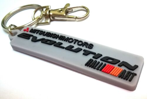Mitsubishi keychain Ralliart rubber badge key holder Lancer Evolution 3000gt GR