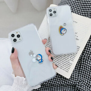 Doraemon-Silicone-Transparent-Phone-Case-Cover-For-iPhone-X-XS-Max-XR-6-7-8-11