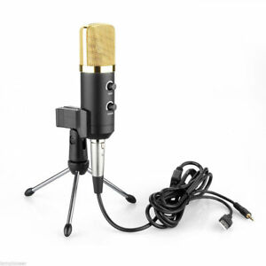 USB-Condenser-Studio-Microphone-Mic-Kit-Shock-Mount-Tripod-Stand-for-PC-Laptop