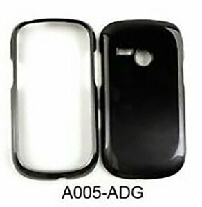Two Tones Snap On Protector Cover Case - Black and Metalic Gray