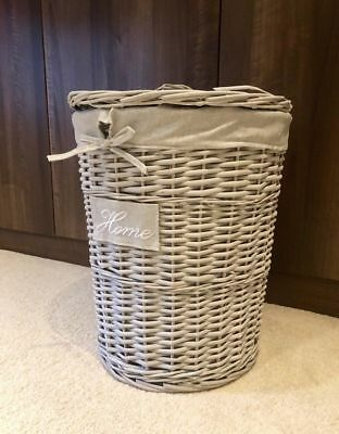 New Wicker Brown Home Decor Baskets With Lining Chest Office Kitchen Tidy Garden