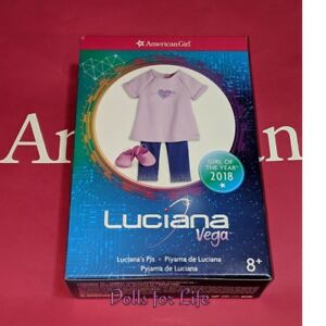 AMERICAN-GIRL-OF-THE-YEAR-LUCIANA-VEGA-PAJAMAS-PJ-clothes-set-for-18-034-doll-NEW