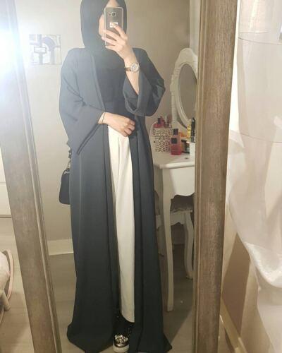 Dubai Muslim Women Open Cardigan Islamic Abaya Jilbab Cocktail Maxi Kaftan Robe