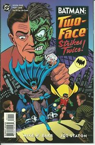 HonnêTe Batman Two-face Strikes Twice ! 1/2 - Dc 1993 ( Comics Usa ) Doux Et AntidéRapant
