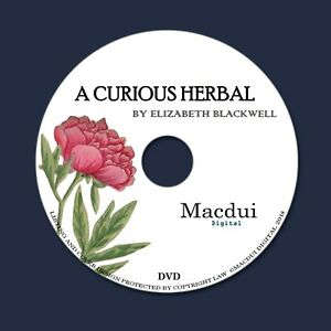 Details about A Curious Herbal 1737-39 by Elizabeth Blackwell 2 Pdf E-books  on 1Data DVD Herbs