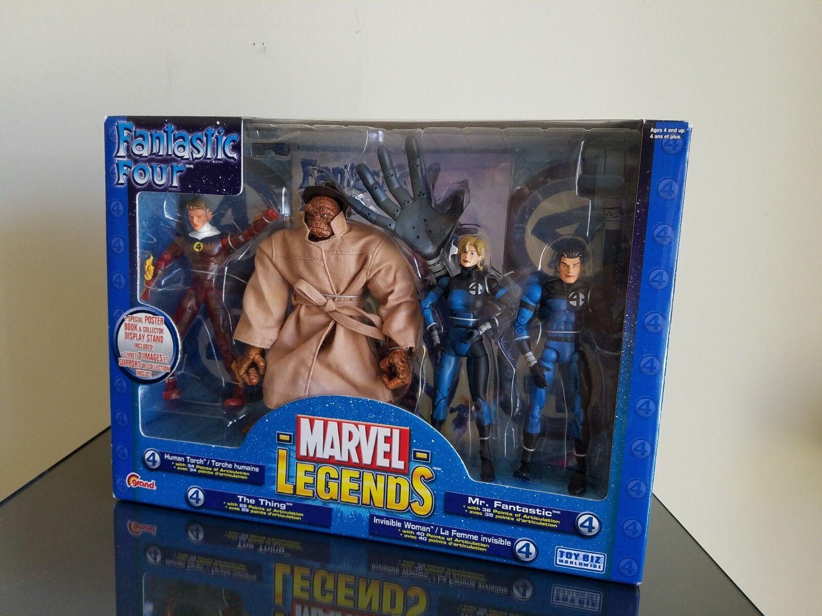 MARVEL LEGENDS FANTASTIC FOUR 4 FIGURE BOX SET Toy Biz