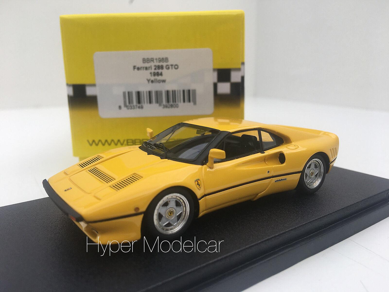 BBR BBR BBR Model 1 43 Ferrari 288 GTO 1984 jaune Art. BBR198B cc1ba9