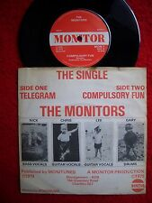 """MONITORS  telegram 7""""  DIY-LONDON-POWERPOP 1979 rivals/protex/clash/sex pistols"""