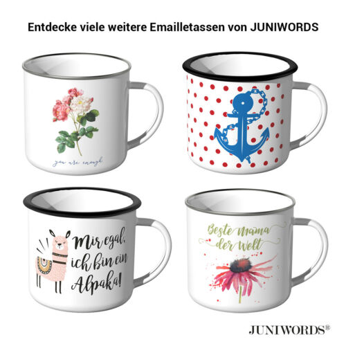 meilleure maman du monde garantit Juniwords Emaille-Tasse fête des mères Cadeau Maman
