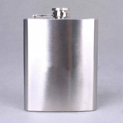10 Piece Wholesale Lot Of 8 oz Stainless Steel Whiskey Liquor Hip Alcohol Flasks
