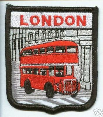 LONDON BUSES WORLD EMBROIDERED PATCH BADGE