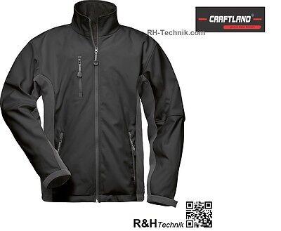 Chaqueta Softshell capa protección suave negro / gris talla S - XXXL nueva