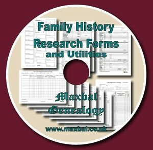 Family-History-Research-Forms-CD-With-Charts-And-Utilities