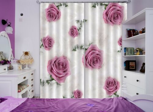 3D Flowers 265 Blockout Photo Curtain Printing Curtains Drapes Fabric Window AU