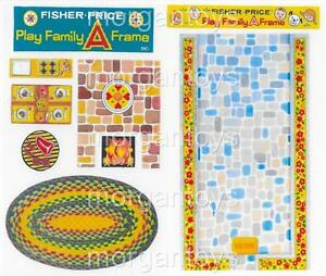 FISHER-PRICE-LITTLE-PEOPLE-A-FRAME-990-REPLACEMENT-STICKERS-LITHOS-PEEL-amp-STICK