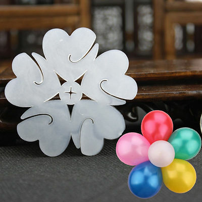 NEW 10pcs Flower Balloons Decoration Accessories Plum Clip Practical Birthday we