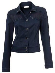 linea tesini kurzjacke gr 38 40 dunkelblau jeansjacke mit spitze jacke neu ebay