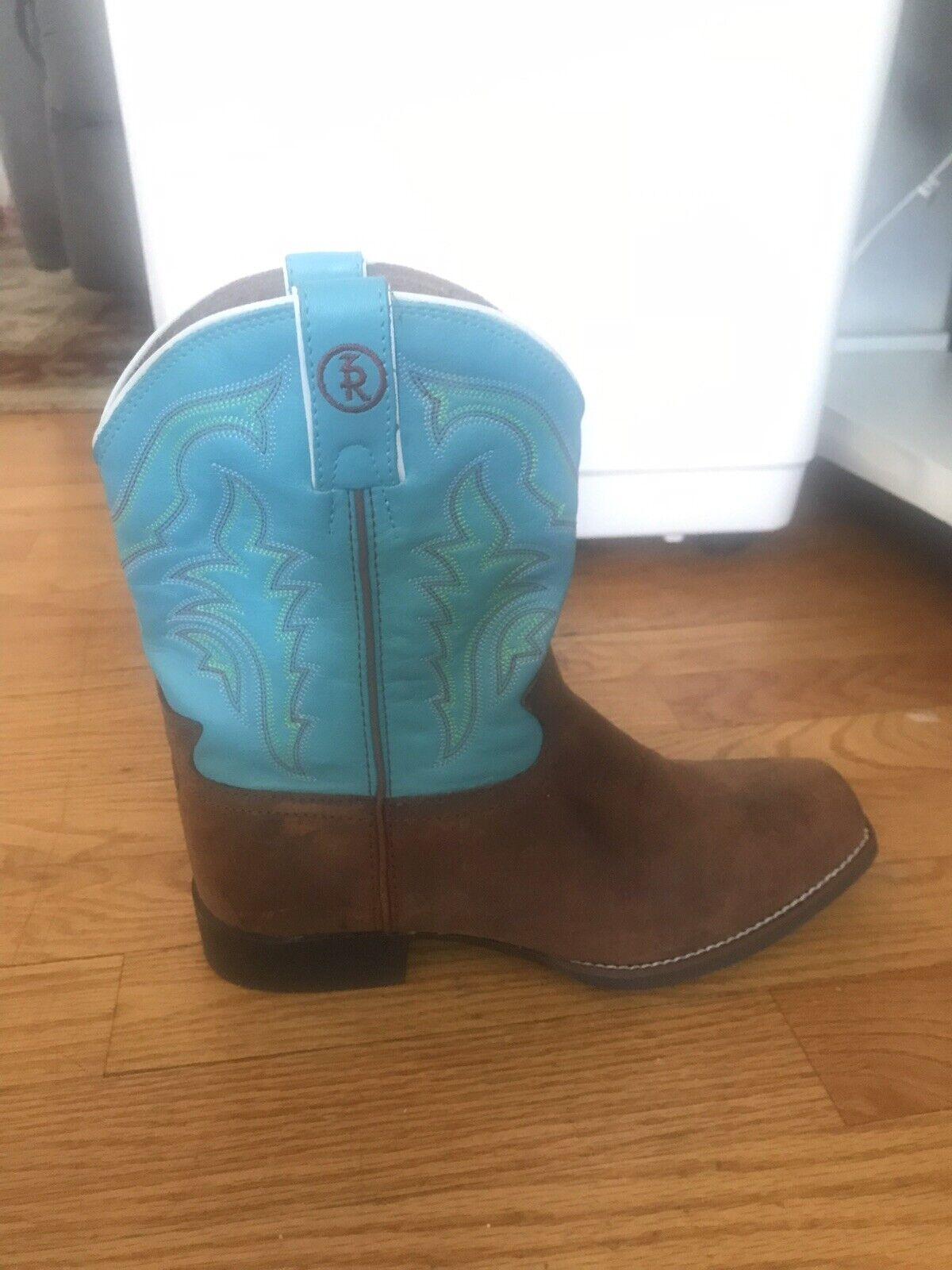 Tony Lama Lama Lama Cowboy Western Boot Turquoise  bspringaaa Square Toe Storlek 6W Vacker  många medgivanden