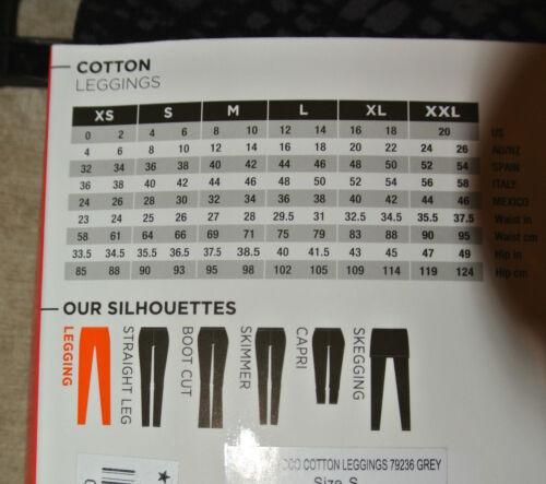HUE Womens 95/% Cotton Original Leggings Skimmer White  S  $34