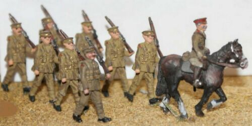 8 soldiers /& 1 Mounted Officer OO Scale - Unpainted Langley F50