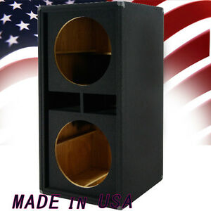 2x18 Bass Speaker Empty Cabinet Sub Woofer Dual 18