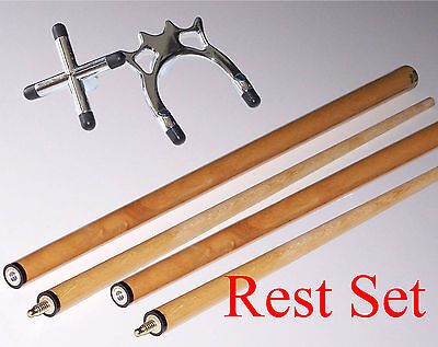 Chrome Cross /& Spider Rest Stick