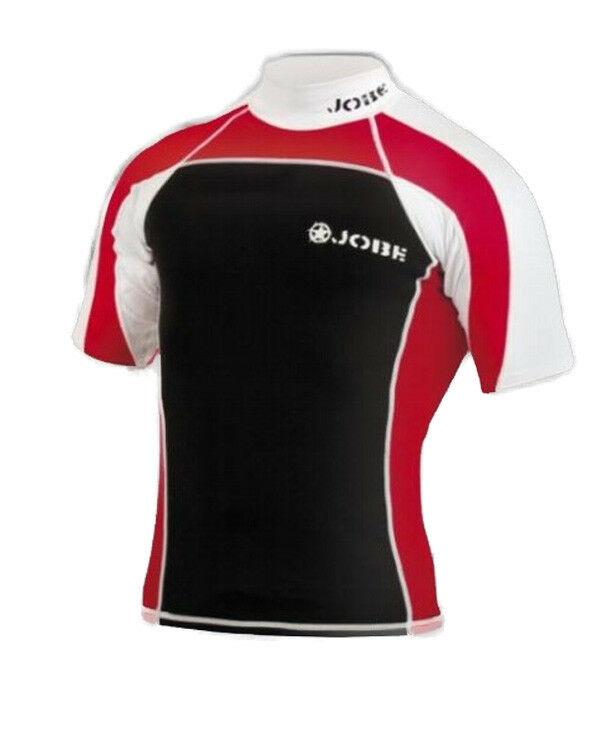Lycra Rash Guard Neoprene Red Jobe - Size S - wake - paddle - jetski - PWC