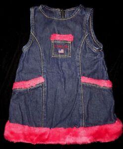 134fc2c81 baby girls DENIM DRESS jumper US POLO ASSOCIATION size 6 9 month ...