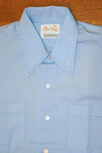 NOS VINTAGE 70s John Wells Men's Shirt Embroidered
