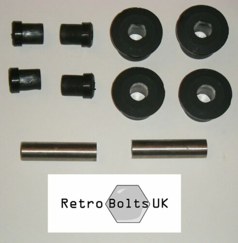 Rear Leaf Spring Shackle - Black Sport Polyurethane Bushes - MK2 Escort