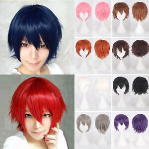 Anime-Short-Wig-Cosplay-Party-Straight-Hair-Cosplay-Full-Wigs-Cap-Mens-Womens