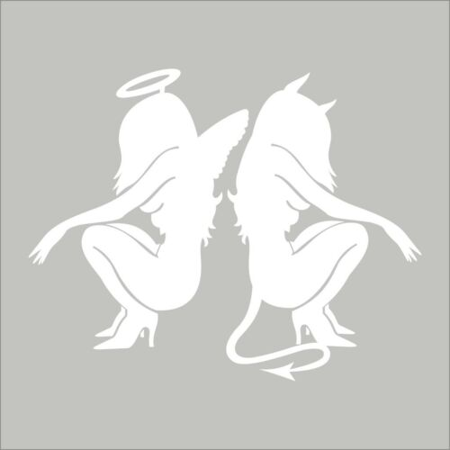 Angel Demon Girls #2 Wall Car Window Vinyl Decal Sticker Misc Graphic