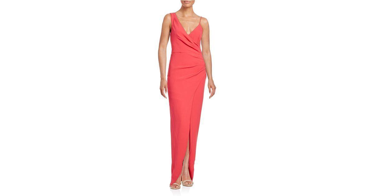 495 Nicole Miller Lagoon bluee Aqua Crepe Ruched Asymmetrical Gown Dress 8