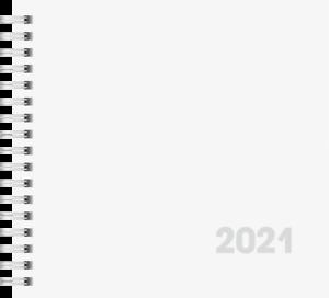 Brunnen 2021 Wochenkalender 762 Quadrat 16,2x15cm karton weiß 1076201001 2S//1W