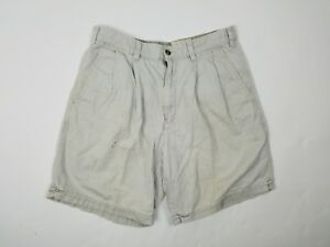 Eddie-Bauer-Mens-Shorts-Size-32-Cotton-Chinos-Pleated-Front