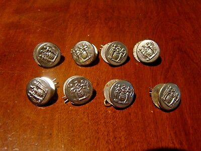 8 Vintage Obsolete State Seal Of New Jersey Police Buttons Uniform  Waterbury | eBay