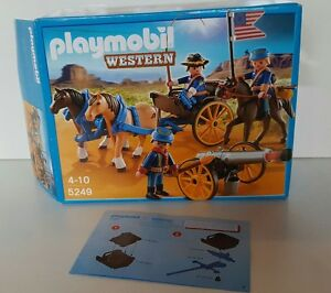 Playmobil western 5249 kutsche kavalleriewagen mit kanone soldaten ovp wneu ebay - Playmobil kutsche ...