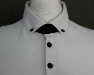TED-BAKER-Mens-TRARNCE-White-Leaf-Pattern-POLO-SHIRT-Ted-Size-3-Medium-M